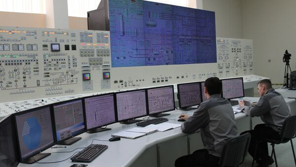 Точная полная копия блочного щита управления Белорусской АЭС - Sputnik Беларусь