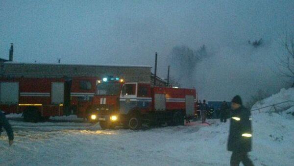 Место взрыва в гаражном кооперативе - Sputnik Беларусь