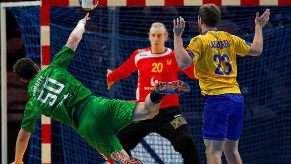 Бросок Артема Королька в матче против Швеции - Sputnik Беларусь