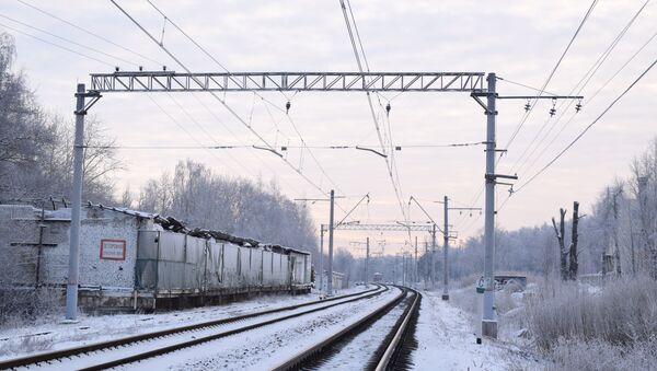 Железная дорога зимой, архивное фото - Sputnik Беларусь