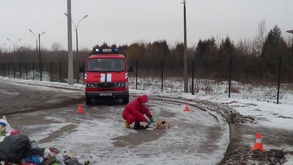 Брестские спасатели на заводе по переработке мусора - Sputnik Беларусь