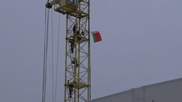Минчанка забралась на башенный кран - Sputnik Беларусь