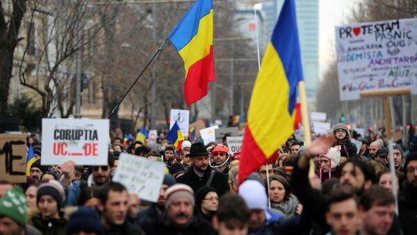 Протесты в Бухаресте - Sputnik Беларусь