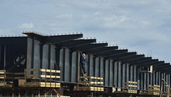 Строительство Керченского моста, архивное фото - Sputnik Беларусь