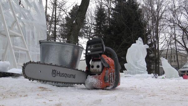 Снежны чэрап і ледзяны воўк: якія скульптуры ёсць у батанічным садзе - Sputnik Беларусь