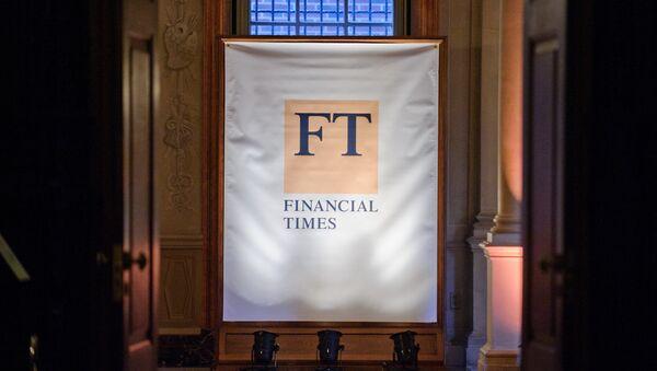 Банер газеты Financial Times - Sputnik Беларусь