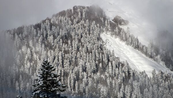 Снег в горах, архивное фото - Sputnik Беларусь