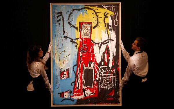Работа американского художника Жан-Мишеля Баскии Без названия (Одноглазый) - Sputnik Беларусь