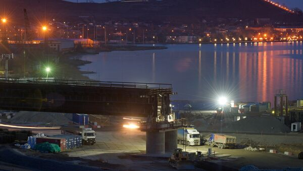 Строительство моста через Керченский пролив в Крыму - Sputnik Беларусь