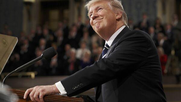 Президент США Дональд Трамп на совместном заседании обеих палат конгресса - Sputnik Беларусь