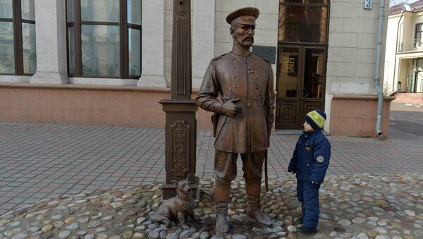 Скульптура Минский городовой открыта в Минске - Sputnik Беларусь