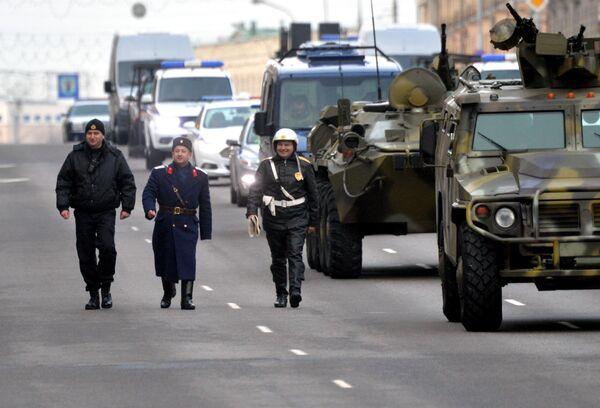 Парад у Мінску, прысвечаны 100-годдзю міліцыі - Sputnik Беларусь