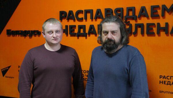 Политолог Александр Шпаковский и ведущий радио Александр Кривошеев - Sputnik Беларусь