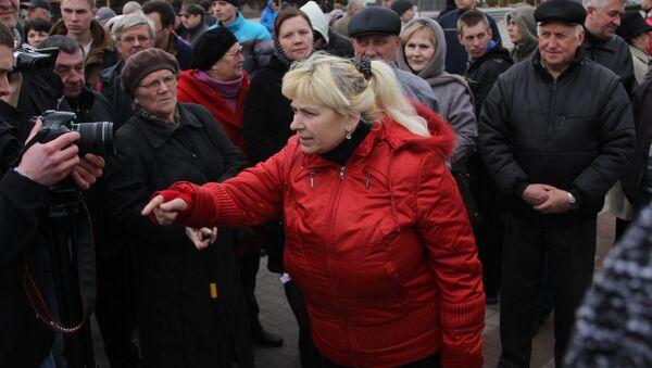 На Марше нетунеядцев в Пинске представителей оппозиции не было - Sputnik Беларусь