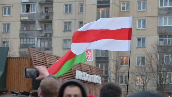 Флаги на акции в Минске - Sputnik Беларусь