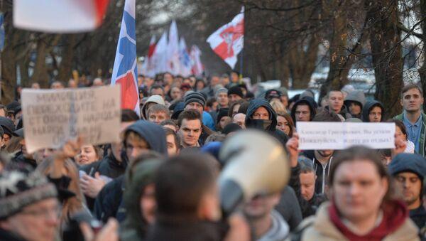 Марш нетунеядцев в Минске 15 марта - Sputnik Беларусь