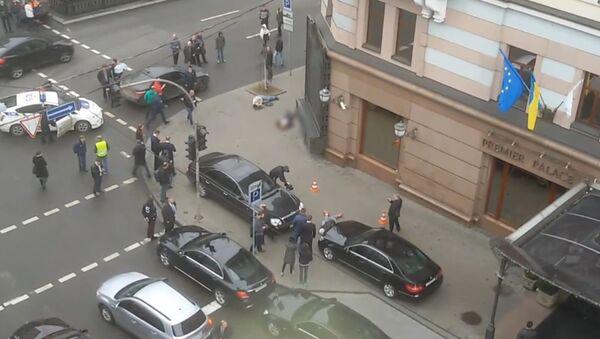 Первые минуты после убийства Вороненкова в Киеве - Sputnik Беларусь