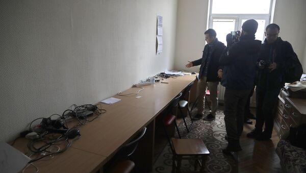 Минский офис польского телеканала Белсат после обыска - Sputnik Беларусь