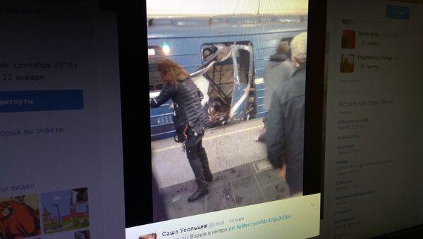 Выбух у метро Санкт-Пецярбурга - Sputnik Беларусь