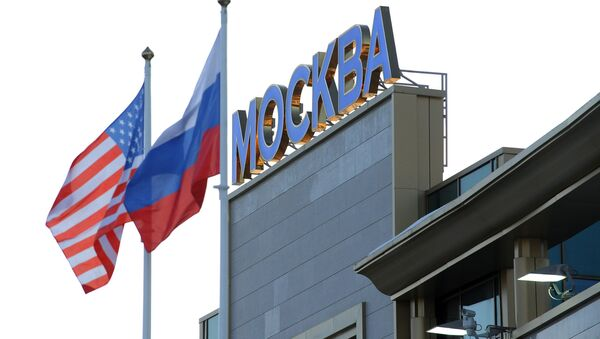 Сцягі Расіі і ЗША ў Маскве - Sputnik Беларусь