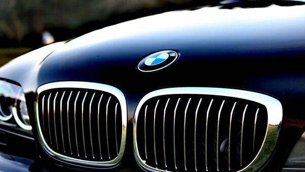 Фальш-решетка радиатора автомобиля BMW, архивное фото - Sputnik Беларусь