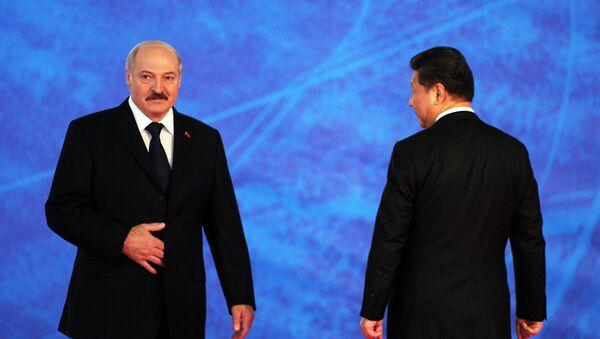 Прэзідэнт Беларусі Аляксандр Лукашэнка і лідэр КНР Сі Цзіньпін - Sputnik Беларусь