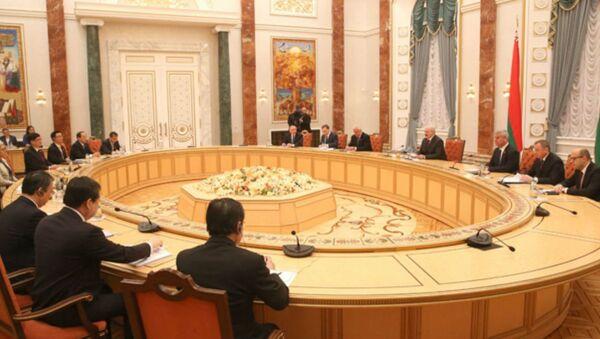 Встреча с председателем Постоянного комитета Всекитайского собрания народных представителей Чжан Дэцзяном 18 апреля 2017 года - Sputnik Беларусь