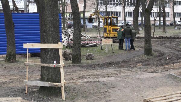 Высечка дрэў ва Усходнім скверы - Sputnik Беларусь