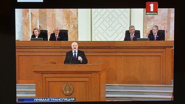 Аляксандр Лукашэнка выступае з пасланнем да беларускага народу і Нацыянальнага сходу - Sputnik Беларусь