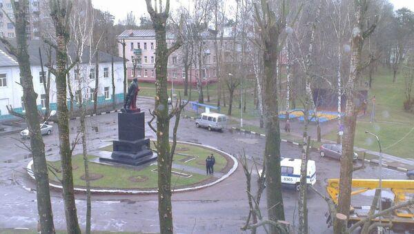 Памятник Ленину облили краской - Sputnik Беларусь