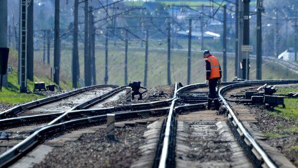 От высокой температуры сомкнулись торцы изолирующего стыка у сигнальной точки №7702 - Sputnik Беларусь
