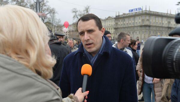 Павел Северинец на акции в Минске - Sputnik Беларусь