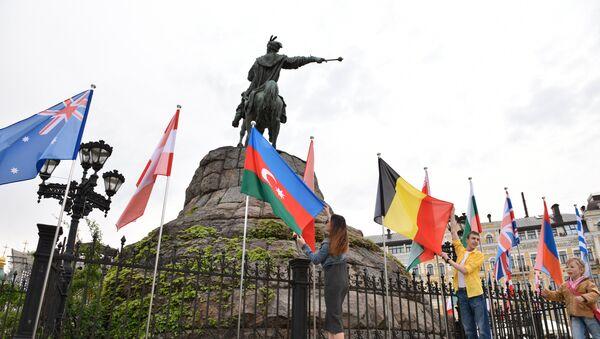 Адкрыццё фан-зоны да Еўрабачання-2017 у Кіеве - Sputnik Беларусь
