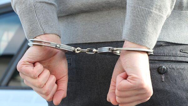 Подозреваемый в наручниках, архивное фото - Sputnik Беларусь