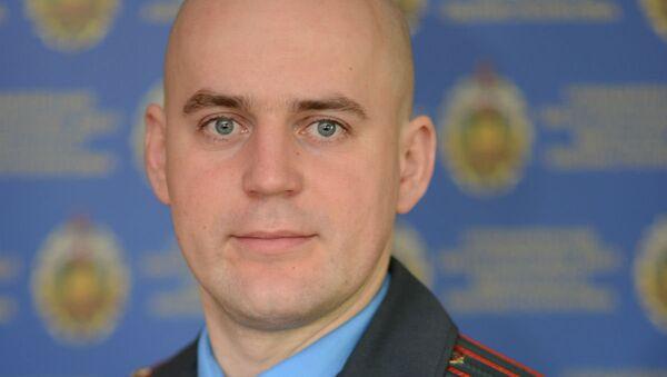 Официальный представитель УВД Миноблисполкома Александр Марченко - Sputnik Беларусь