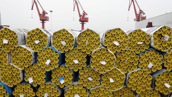 Работы в китайском порту Ляньюньган - Sputnik Беларусь