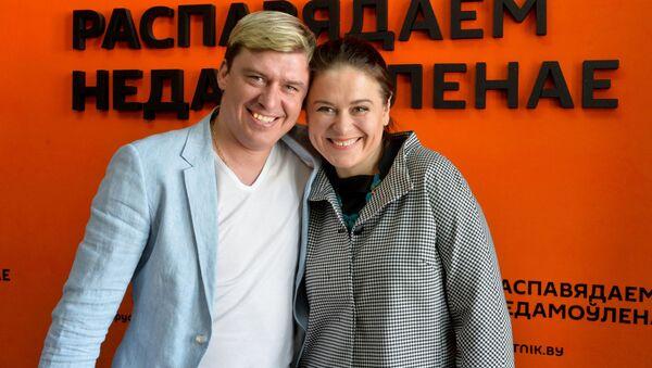 Беларускія спартсмены-веласіпедысты Яўген Гутаровіч і Наталля Цылінская - Sputnik Беларусь
