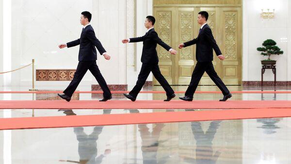Охранники перед форумом в Пекине, Китай - Sputnik Беларусь