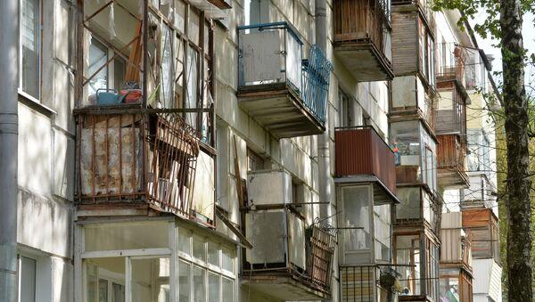 Балконы дома по улице Волгоградской - Sputnik Беларусь
