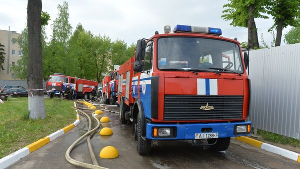 Пожарные машины МЧС, архивное фото - Sputnik Беларусь