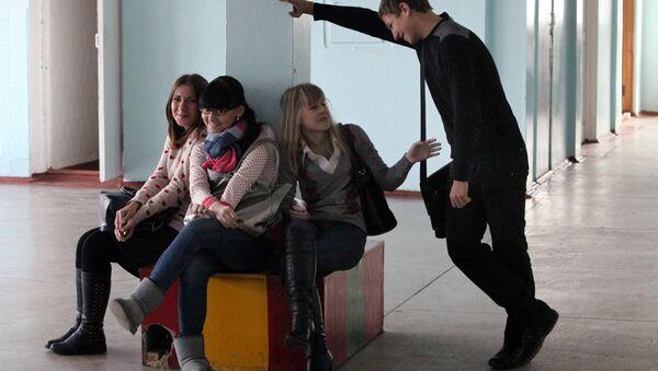 Школьнікі на перапынку, архіўнае фота - Sputnik Беларусь