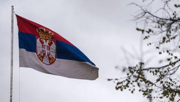 Сцяг Сербіі, архіўнае фота - Sputnik Беларусь