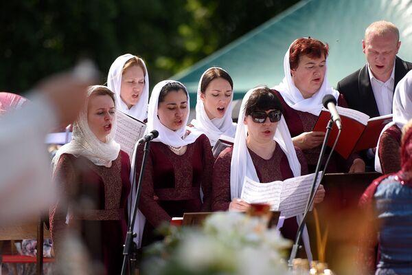 Красок в торжество добавил камерный хор Гомельской областной филармонии. - Sputnik Беларусь