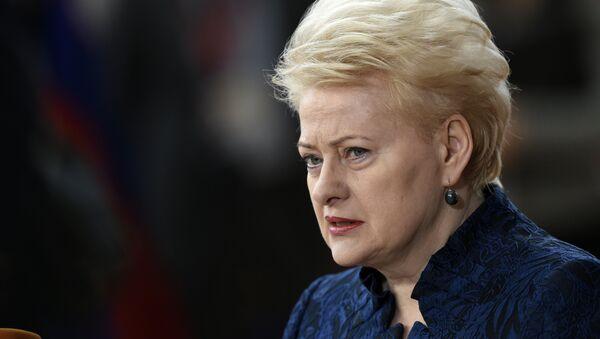 Президент Литвы Даля Грибаускайте - Sputnik Беларусь