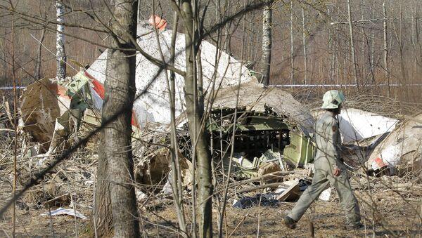 Место падения польского самолета Ту-154 под Смоленском - Sputnik Беларусь