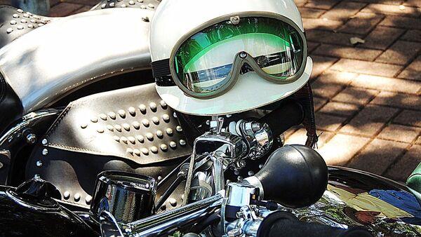Мотоциклетный шлем, архивное фото - Sputnik Беларусь