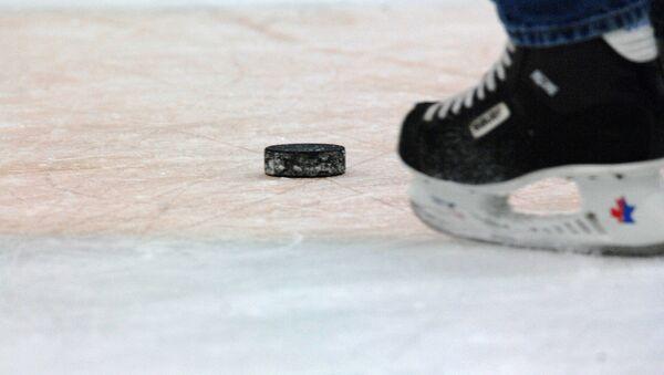 Хоккеист на льду, архивное фото - Sputnik Беларусь