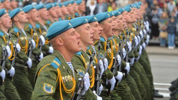 Парадный расчет 38-й отдельной гвардейской десантной-штурмовой бригады. - Sputnik Беларусь