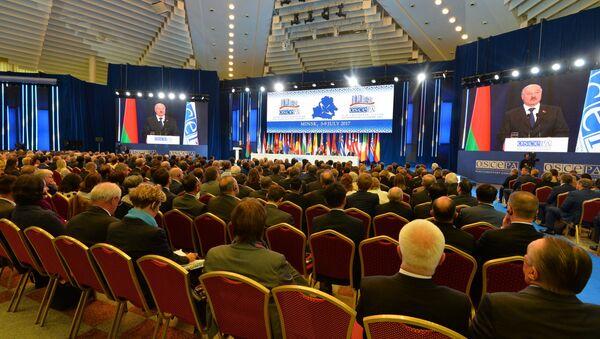Выступление президента Беларуси Александра Лукашенко на сессии ПА ОБСЕ в Минске - Sputnik Беларусь