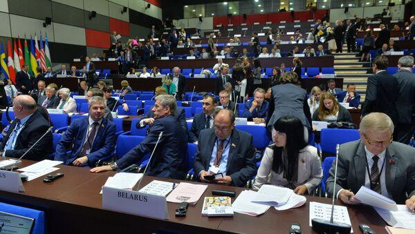 Белорусские представители на сессии ПА ОБСЕ в Минске - Sputnik Беларусь
